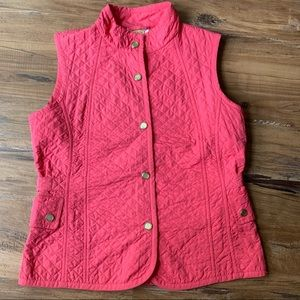 Talbots Pink Quilted Down Vest